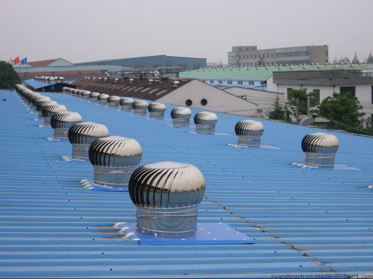A上海無動力風球屋頂自動風帽旋轉風機沒電的