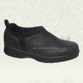 广州休闲皮鞋,力学功能外贸鞋,平足症适用