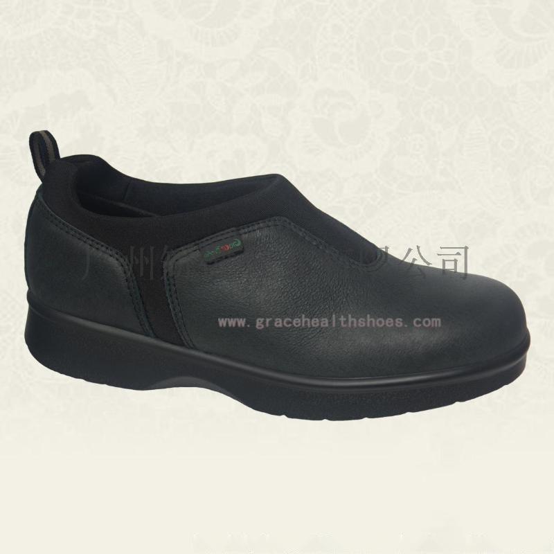 广州老人鞋,糖尿病足预防鞋,舒适皮鞋,缓解足底疼痛