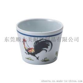顺大美耐皿密胺仿瓷餐具晨鸣系列茶杯GM659