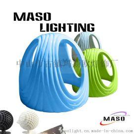 玛斯欧现代艺术头盔造型树脂吊灯简约镂空工艺餐厅吊灯酒吧吊灯LED光源MS-P1056