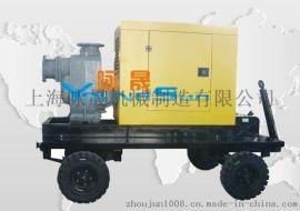 防汛排水车 柴油机移动泵车