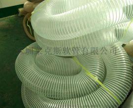 PVC塑筋增强软管,塑筋缠绕管,PVC透明钢丝软管