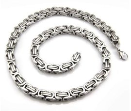 不锈钢手链项链套装 欧美热销
