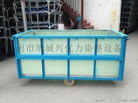 厂家供应玻璃钢推布车斗车铁架方形手推车洗水厂装布车