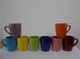 小鼓肚色釉杯淄博出口级1-3陶瓷杯厂家现货
