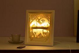纸张工艺品激光雕刻机、剪影纸雕灯镂空