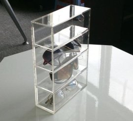 深圳天利达亚克力展示柜精品饰品收纳盒4层眼镜展示架手机数码产品收纳展示