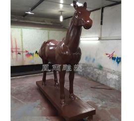 戶外大型騎士馬雕塑 仿真玻璃鋼雕塑 動物雕塑