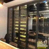 不鏽鋼恆溫酒櫃定製 酒店落地紅酒展示櫃 酒架廠家