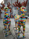 玻璃鋼城市動漫主題景觀小鹿雕塑 短期宣傳廣告擺件泡沫雕塑定製