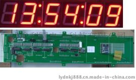 发电厂电力行业IRIG- B码同步时钟校正数码时间显示板时钟系统
