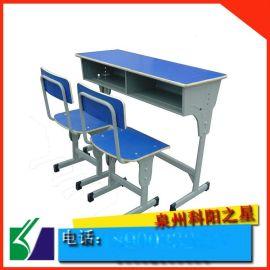 泉州学生课桌椅 厂家直销莆田学校培训单人课桌 可升降学习课桌椅