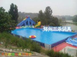 河北邯郸充气滑梯大型蹦床