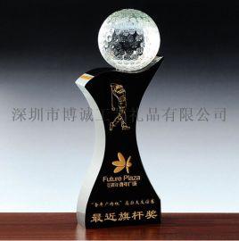 高尔夫球奖杯定制 深圳水晶奖杯 体育比赛奖杯