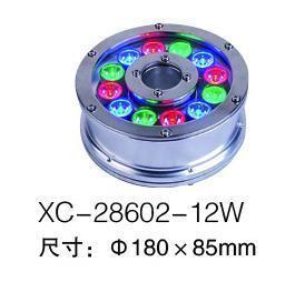 LED水底灯3w 7W 9W 12W 15W水池灯射灯 不锈钢喷泉灯 水下灯 泳池灯 外控七彩RGB