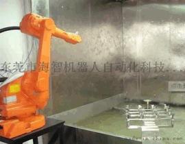 汽车拉手喷涂机器人生产线,汽车配件喷漆机械手,喷涂喷漆机器人厂家