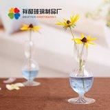 透明歐式條紋花瓶創意家居擺件裝飾品水培植物花盆養花器