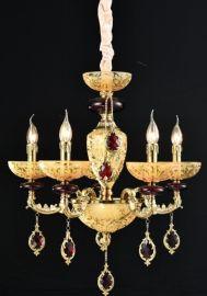 小法式全铜水晶吊灯客厅灯餐厅灯欧式别墅复式楼宫廷会所高端灯具