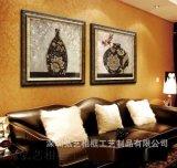 工廠直銷 熱銷歐美復古有框裝飾畫 《瓶安吉祥》壁畫 HY2989