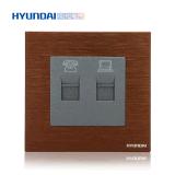 Hyundai / 現代K70TEL1/PC1/K一位電話+電腦插座