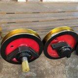 河南车轮组供应商 优质行车主动轮批发 800160双缘成套车轮 轮子锻件