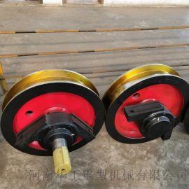 河南车轮组供应商 **行车主动轮批发 800160双缘成套车轮 轮子锻件
