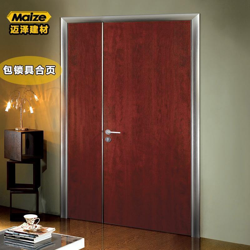 简约房间门免漆门铝蜂窝铝合金生态门定制铝门室内门套装门 厂家