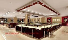海南珠宝柜定做珠宝烤漆柜台制作厂家海南珠宝柜设计制作