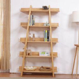 新款现代柜架 简约原木色展示 落地式陈列架 实木靠墙储物架