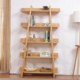 新款現代櫃架 簡約原木色展示 落地式陳列架 實木靠牆儲物架