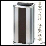 不鏽鋼垃圾桶 帶菸灰缸垃圾桶 黑白條紋垃圾筒 垃圾箱定製 商場酒店垃圾桶