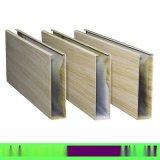 廠家直銷木紋鋁方通 U型鋁四方管 熱轉印仿木紋色