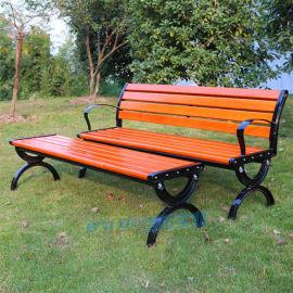 户外休闲椅公园坐椅防腐木室外休闲椅有靠背园林座椅
