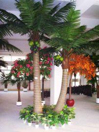 专业订做仿真椰子树/大王椰子树/抗风雪人造椰子树