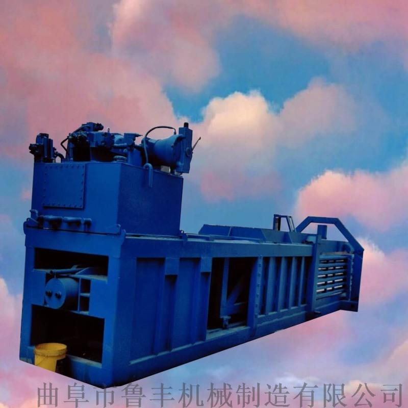 河南廢紙箱打捆自動出包臥式液壓打包機參數