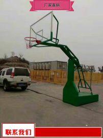 健身广场篮球架量大价优 地埋圆管篮球架供应