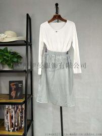 广州伊曼服饰品牌女装走份折扣,麦中林一线女装