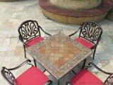 舒納和 戶外桌椅大理石桌子配室內外鑄鋁耐用美觀椅子