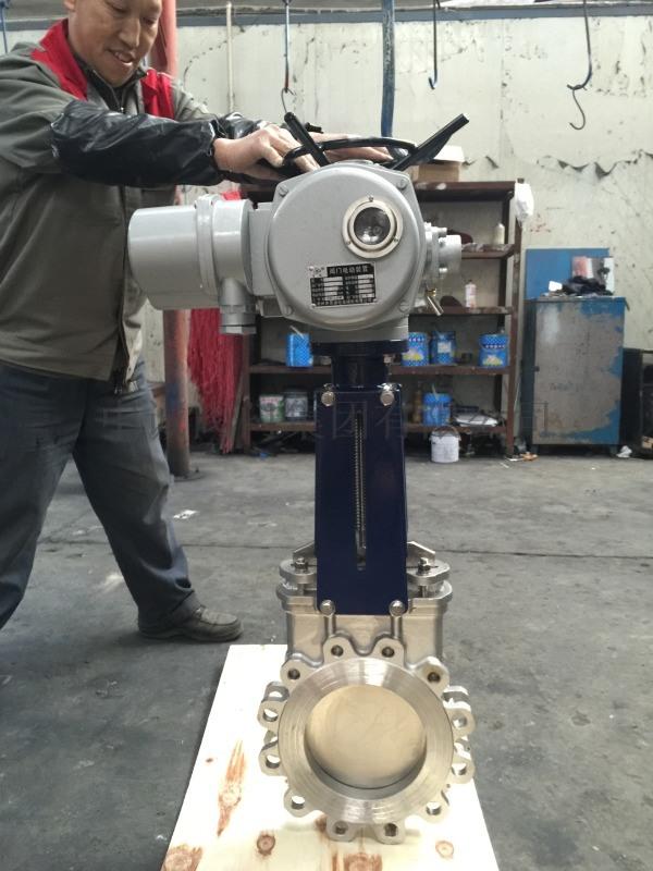 PZ973W-10P电动刀闸阀,刀型闸阀
