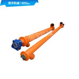 垂直圆管螺旋上料机,树脂颗粒碳钢管式蛟龙输送机