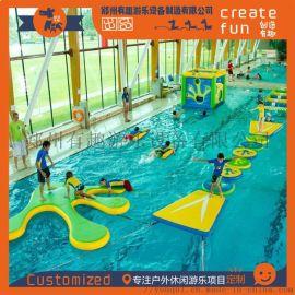 大型水上冲关游乐设备 可移动水上乐园设备 水上冲关