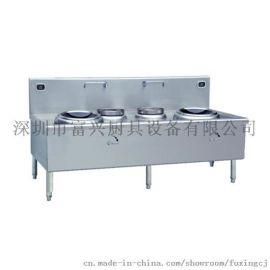 深圳電磁雙頭單尾小炒爐 12KW雙頭單尾小炒爐廠家