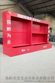 建筑工地定制消防柜|三组合消防展示柜|消防器材柜