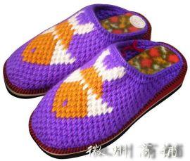 手工女式年年有余保暖拖鞋-002
