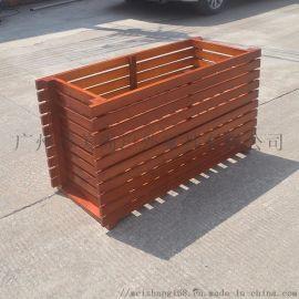 美尚防腐木花箱、户外木质花箱