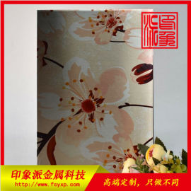 厂家定制304彩色不锈钢卫浴花纹板
