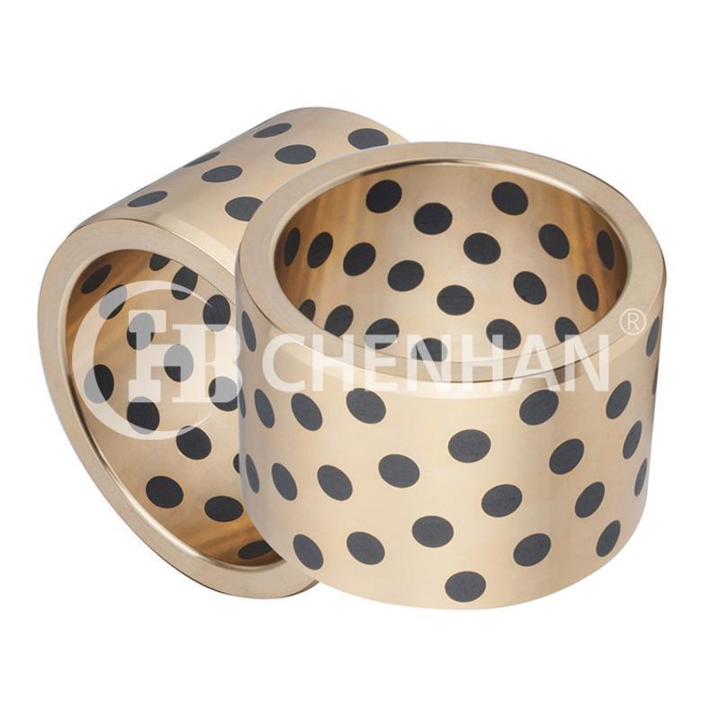 非標定製自潤滑免維護石墨銅套,銅合金軸套生產加工