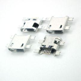 深圳连接器厂家直销现货供应MICRO母座连接器5PIN沉板USB连接器