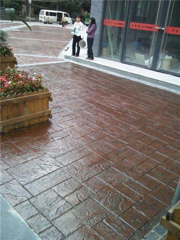 内蒙古艺术彩坪-包头压花地坪-彩色混凝土压模道路-地坪材料厂家
